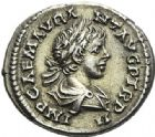 Photo numismatique  ARCHIVES VENTE 2012 EMPIRE ROMAIN CARACALLA (César 196-198 - Auguste 198-217)  315- Lot de cinq monnaies.