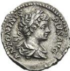 Photo numismatique  ARCHIVES VENTE 2012 EMPIRE ROMAIN CARACALLA (César 196-198 - Auguste 198-217)  314- Denier incus, frappé à Rome en 201/210.