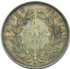 Photo numismatique  MONNAIES MODERNES FRANÇAISES NAPOLEON III, empereur (2 décembre 1852-1er septembre 1870)  1 franc.