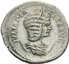 Photo numismatique  ARCHIVES VENTE 2012 EMPIRE ROMAIN JULIA DOMNA (épouse de Septime Sévère)  313- *Antoninien et deux deniers, frappés à Rome en 196/211.