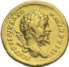 Photo numismatique  ARCHIVES VENTE 2012 EMPIRE ROMAIN SEPTIME SÉVÈRE (193-211)  307- Aureus, frappé à Rome vers 198/199.