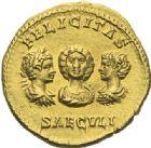 Photo numismatique  ARCHIVES VENTE 2012 EMPIRE ROMAIN SEPTIME SÉVÈRE (193-211)  306- Aureus représentant la famille, frappé à Rome en 201.