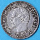Photo numismatique  MONNAIES MODERNES FRANÇAISES NAPOLEON III, empereur (2 décembre 1852-1er septembre 1870) Visite à Lille Module de 5 centimes.