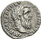 Photo numismatique  ARCHIVES VENTE 2012 EMPIRE ROMAIN PERTINAX (1er janvier au 28 mars 193)  303- Denier, frappé à Rome en 193.