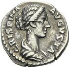 Photo numismatique  ARCHIVES VENTE 2012 EMPIRE ROMAIN CRISPINE (épouse de Commode)  302- Denier, frappé à Rome.