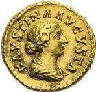 Photo numismatique  ARCHIVES VENTE 2012 EMPIRE ROMAIN FAUSTINE jeune (épouse de Marc Aurèle)  297- Aureus, frappé à Rome.