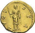 Photo numismatique  ARCHIVES VENTE 2012 EMPIRE ROMAIN FAUSTINE mère (épouse d'Antonin +141)  294- Aureus, frappé à Rome après 141.