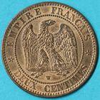 Photo numismatique  MONNAIES MODERNES FRANÇAISES NAPOLEON III, empereur (2 décembre 1852-1er septembre 1870)  2 centimes.
