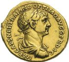 Photo numismatique  ARCHIVES VENTE 2012 EMPIRE ROMAIN TRAJAN (98-117)  283- Aureus, frappé à Rome en 114/116.