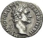 Photo numismatique  ARCHIVES VENTE 2012 EMPIRE ROMAIN DOMITIEN César (69-81) Auguste (81-96)  280- Denier, frappé à Rome en 88.