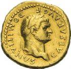 Photo numismatique  ARCHIVES VENTE 2012 EMPIRE ROMAIN DOMITIEN César (69-81) Auguste (81-96)  279- Aureus, frappé à Rome en 76.