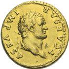 Photo numismatique  ARCHIVES VENTE 2012 EMPIRE ROMAIN TITUS  César (69-79 Auguste (79-81)  278- Aureus, frappé à Rome en 74.