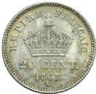 Photo numismatique  MONNAIES MODERNES FRANÇAISES NAPOLEON III, empereur (2 décembre 1852-1er septembre 1870)  20 centimes.