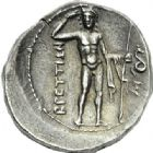 Photo numismatique  ARCHIVES VENTE 2012 GRECE ANTIQUE Italie - Bruttium Ligue des Bruttiens (215-205) 32- Drachme, (215-205).