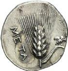 Photo numismatique  ARCHIVES VENTE 2012 GRÈCE ANTIQUE Italie - Lucanie Métaponte 2de Guerre Punique. Période d'HANNIBAL (212-207) 22- Drachme.