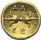 Photo numismatique  ARCHIVES VENTE 2012 GRECE ANTIQUE Italie - Calabre Sous Alexandre le Molosse (vers 334-330) 8- Douzième de statère d'or, (334-333).