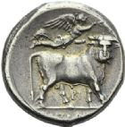 Photo numismatique  ARCHIVES VENTE 2012 GRECE ANTIQUE Italie - Campanie Naples 4- Didrachme, (325-241).