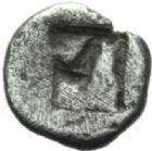 Photo numismatique  MONNAIES GRECE ANTIQUE GAULE Type du trésor d'Auriol (Ve siècle) Tétartémorion milésiaque.