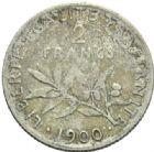 Photo numismatique  MONNAIES MODERNES FRANÇAISES 3ème REPUBLIQUE (4 septembre 1870-10 juillet 1940)  2 francs.