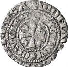 Photo numismatique  MONNAIES VOLEES BARONNIALES Chapitre de CAMBRAI Siège vacant à partir de 1285 Baudekin imitant la 4e émission de Marguerite de Constantinople.