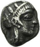 Photo numismatique  MONNAIES VOLEES GRÈCE ANTIQUE GRECE CENTRALE ATTIQUE. Athènes (480-400) 120- Obole, (480-400)