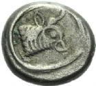 Photo numismatique  MONNAIES VOLEES GRECE ANTIQUE ASIE MINEURE COLCHIDE (vers 470) 137- Hémidrachme, (vers 470).