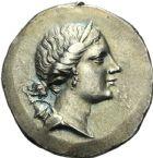 Photo numismatique  MONNAIES VOLEES GRÈCE ANTIQUE ASIE MINEURE. IONIE Magnésie du Méandre (après 190) 165- Tétradrachme, (après 190).