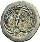 Photo numismatique  MONNAIES VOLEES GRECE ANTIQUE ASIE MINEURE. IONIE Magnésie du Méandre (après 190) 165- Tétradrachme, (après 190).