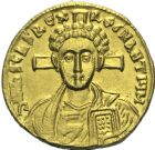 Photo numismatique  MONNAIES VOLEES EMPIRE BYZANTIN JUSTINIEN II, 2e règne (705-711)  412- Solidus, frappé à Constantinople.