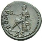 Photo numismatique MONNAIES EMPIRE ROMAIN VESPASIEN (69-79) Dupondius frappé à Rome en 71.