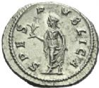 Photo numismatique  MONNAIES EMPIRE ROMAIN ALEXANDRE SEVERE (César 221-222 - Auguste 222-235)  Denier frappé à Rome en 231/235.