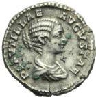 Photo numismatique  MONNAIES EMPIRE ROMAIN PLAUTILLE (épouse de Caracalla +212)  Denier frappé à Rome.