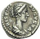 Photo numismatique  MONNAIES EMPIRE ROMAIN CRISPINE (épouse de Commode)  Denier frappé à Rome.