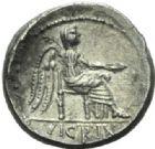Photo numismatique  MONNAIES RÉPUBLIQUE ROMAINE M. Porcius Cato (vers 89)  Quinaire frappé à Rome vers 89.