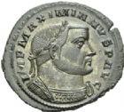 Photo numismatique  MONNAIES EMPIRE ROMAIN MAXIMIEN HERCULE (César 286-305 - Auguste 306-308, 310)  Follis ou nummus frappé à Lyon en 303/304.