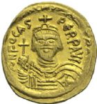 Photo numismatique  MONNAIES EMPIRE BYZANTIN PHOCAS (602-610)  Solidus frappé à Constantinople.