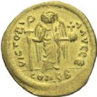 Photo numismatique  MONNAIES EMPIRE BYZANTIN MAURICE TIBERE (582-602)  Solidus frappé à Antioche.