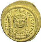 Photo numismatique  MONNAIES EMPIRE BYZANTIN JUSTIN II (565-578)  Solidus frappé à Constantinople.