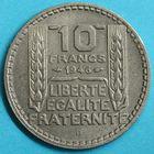 Photo numismatique  MONNAIES MODERNES FRANÇAISES GOUVERNEMENT PROVISOIRE (3 juin 1944-16 janvier 1947)  10 francs.