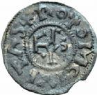 Photo numismatique  MONNAIES CAROLINGIENS CHARLES LE SIMPLE (28 janvier 893-destitué en 923)  Denier de Saint Ouen de Rouen.