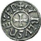 Photo numismatique  MONNAIES CAROLINGIENS CHARLES LE CHAUVE, roi (840-875)  Denier de Melle.