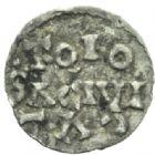 Photo numismatique  MONNAIES CAROLINGIENS LOUIS LE PIEUX, empereur (janvier 814-20 juin 840) Type trilinéaire (à partir de 818) Obole trilinéaire de Toulouse.