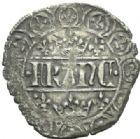 Photo numismatique  MONNAIES ROYALES FRANCAISES JEAN II LE BON (22 août 1350-18 avril 1364)  Blanc aux quadrilobes de la 3ème émission (20 mars 1355).