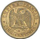 Photo numismatique  MONNAIES MODERNES FRANÇAISES NAPOLEON III, empereur (2 décembre 1852-1er septembre 1870)  5 centimes, Paris 1853.