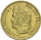 Photo numismatique  MONNAIES MODERNES FRANÇAISES LOUIS-PHILIPPE Ier (9 août 1830-24 février 1848)  40 francs or, Paris 1831.