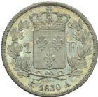 Photo numismatique  MONNAIES MODERNES FRANÇAISES CHARLES X (16 septembre 1824-2 août 1830)  1 franc tranche cannelée, Paris 1830.