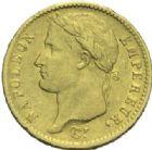 Photo numismatique  MONNAIES MODERNES FRANÇAISES NAPOLEON Ier, empereur (18 mai 1804- 6 avril 1814)  20 francs or, Utrecht 1813.