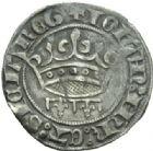 Photo numismatique  MONNAIES BARONNIALES Comté de PROVENCE JEANNE de NAPLES (1343-1382) Gros à la couronne émis entre 1369 et 1372.
