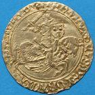 Photo numismatique  MONNAIES BARONNIALES Duché de BRETAGNE FRANÇOIS II (1458-1488) Cavalier d'or de Nantes.