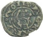 Photo numismatique  MONNAIES BARONNIALES Comté de PROVENCE ALPHONSE Ier et II d'ARAGON (1167-1196-1209) Obole du XIIIe siècle.